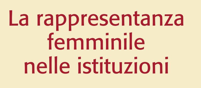 La rappresentaza femminile nelle istituzioni